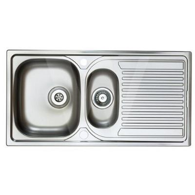 Astracast Aegean 1.5 Bowl Stainless Kitchen Sink 965 x 500 - 52035084